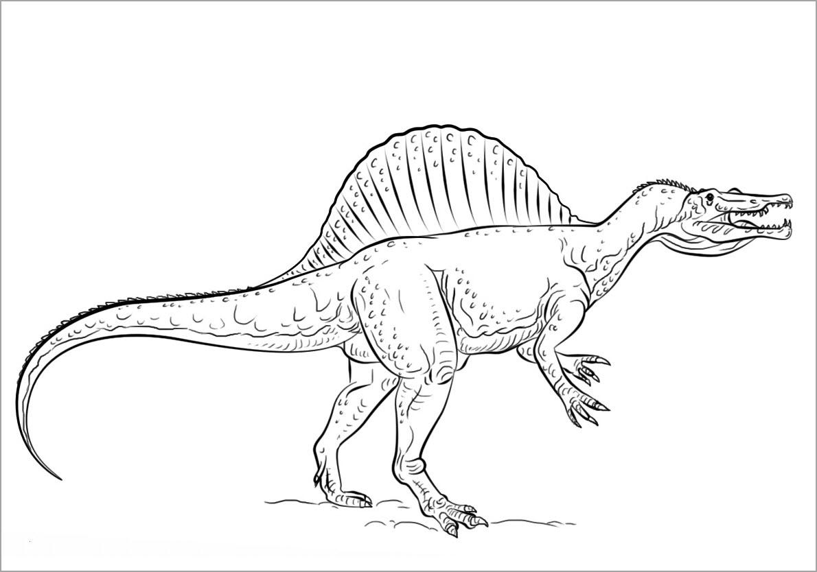 Tranh khủng long cho bé tô màu