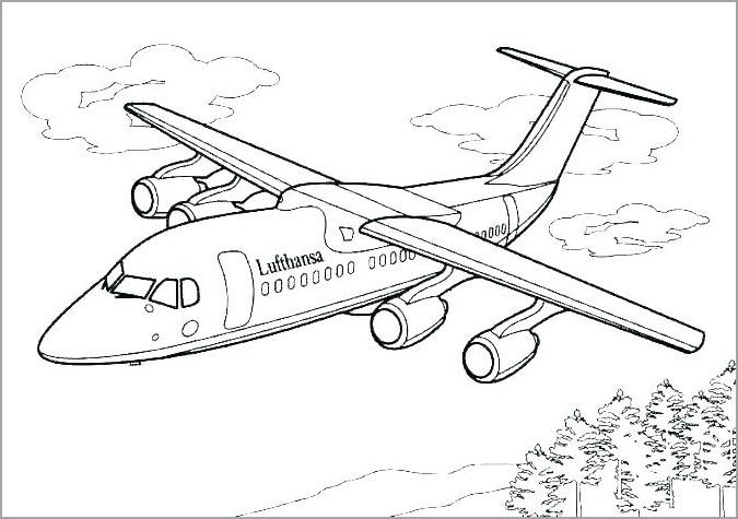 Tranh máy bay cho bé tập tô mày