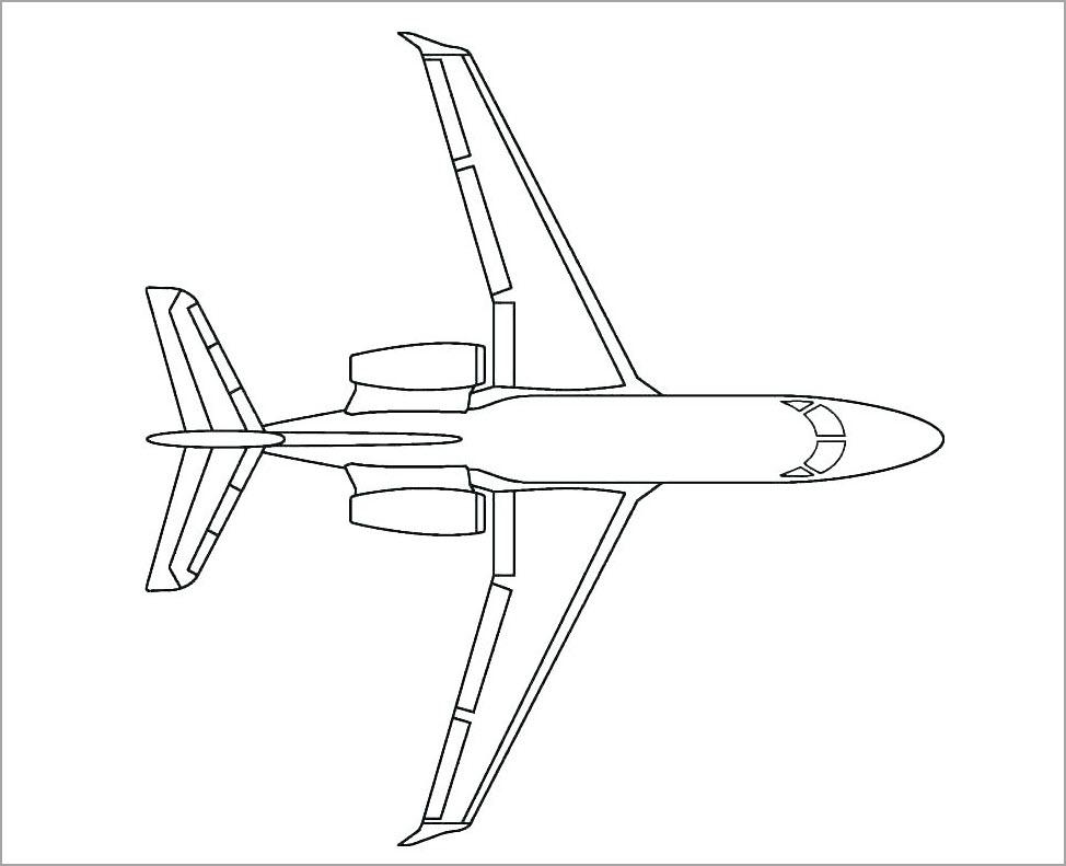 Tranh máy bay cho bé tập tô