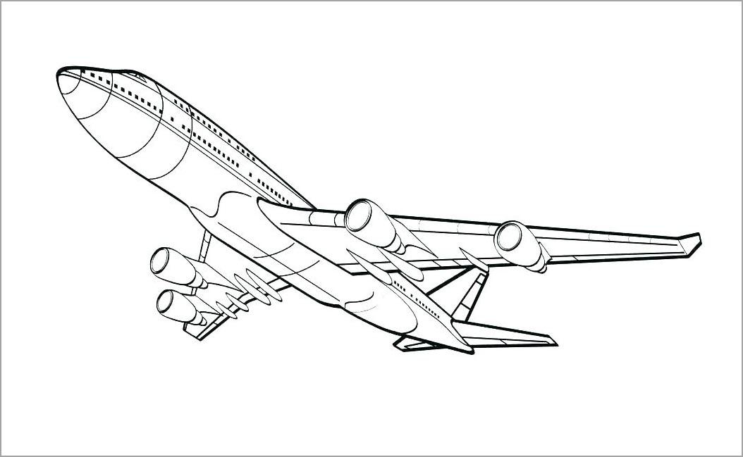 Tranh máy bay cho bé tô màu