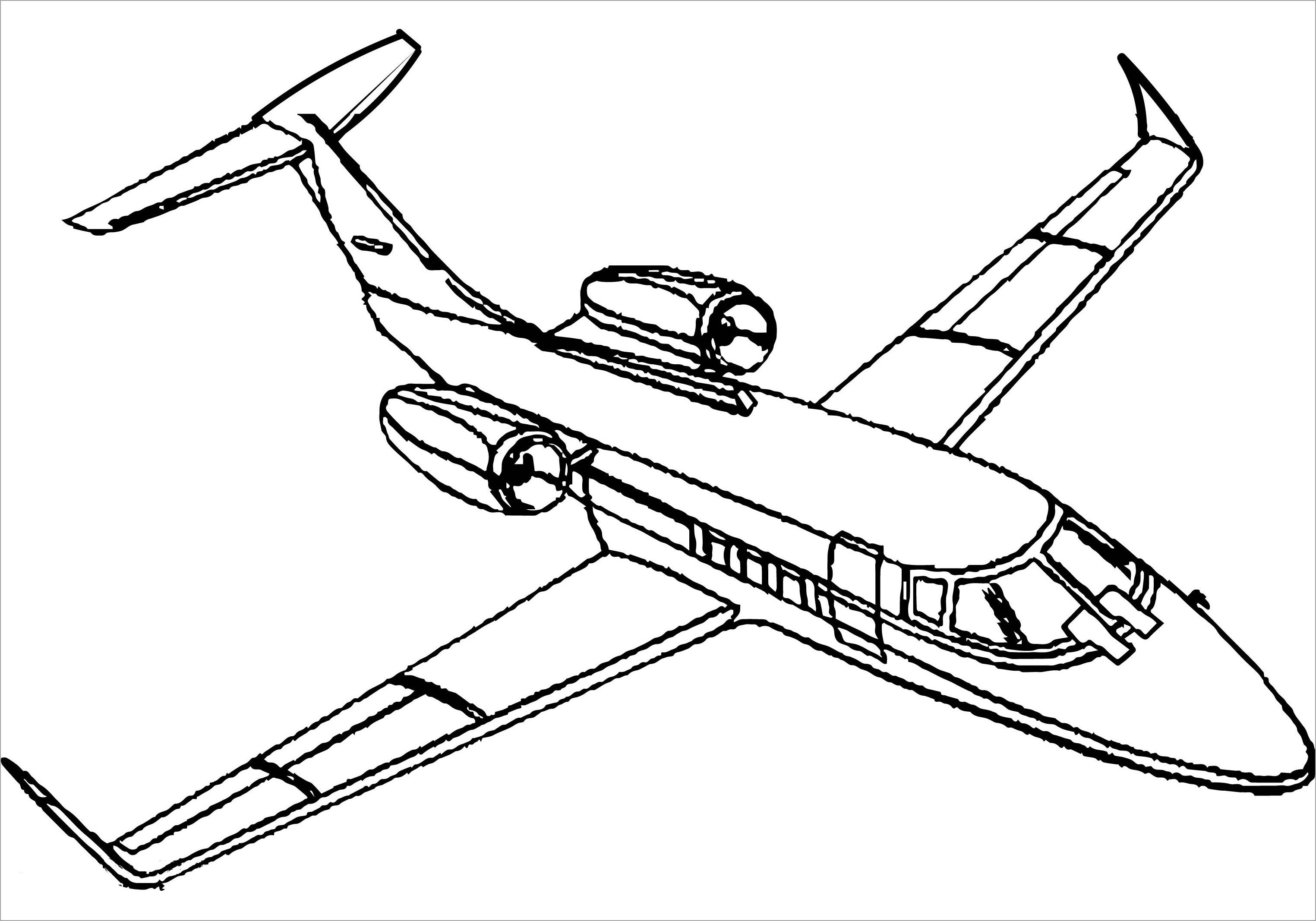 Tranh tập tô cho bé chủ đề máy bay