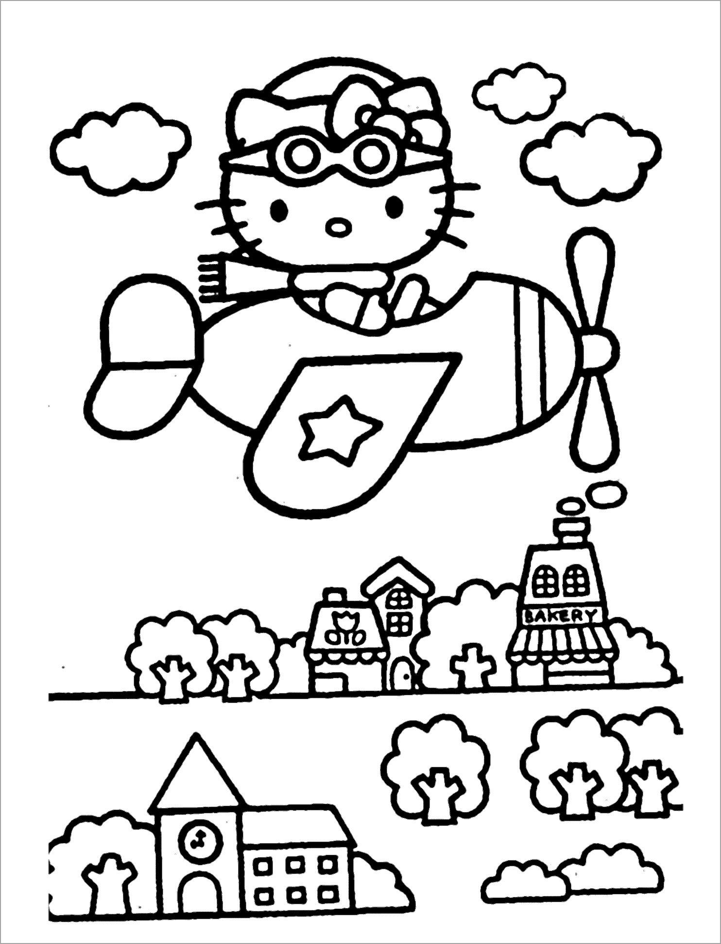 Tranh tập tô hình máy bay cho bé