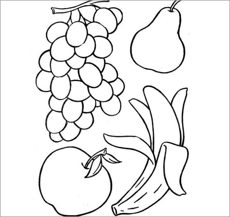 Tranh tập tô hoa quả