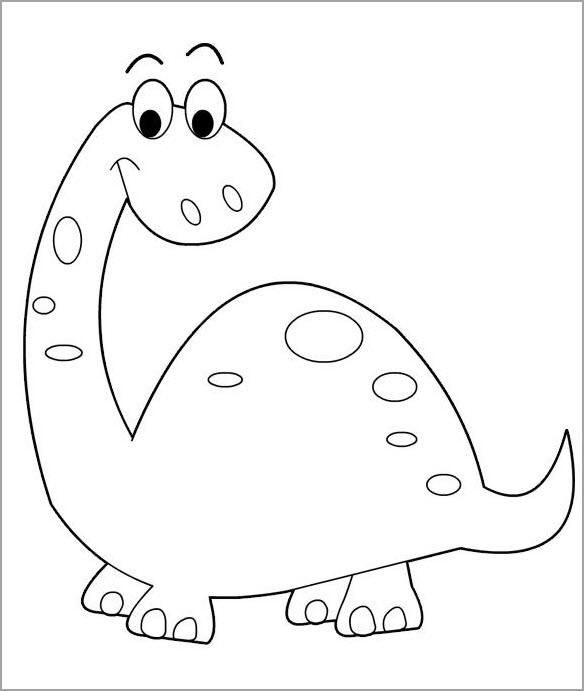 Tranh tập tô khủng long đẹp