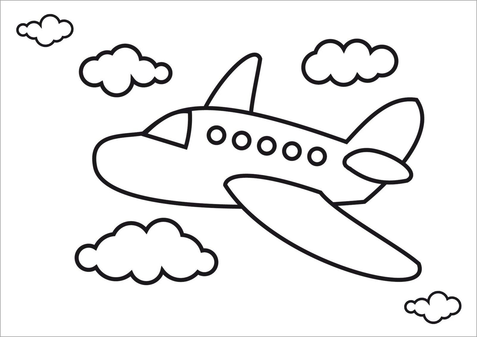 Tranh tập tô màu cho bé chủ đề máy bay