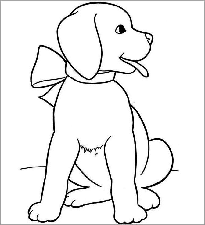 Tranh tập tô màu chủ đề con chó