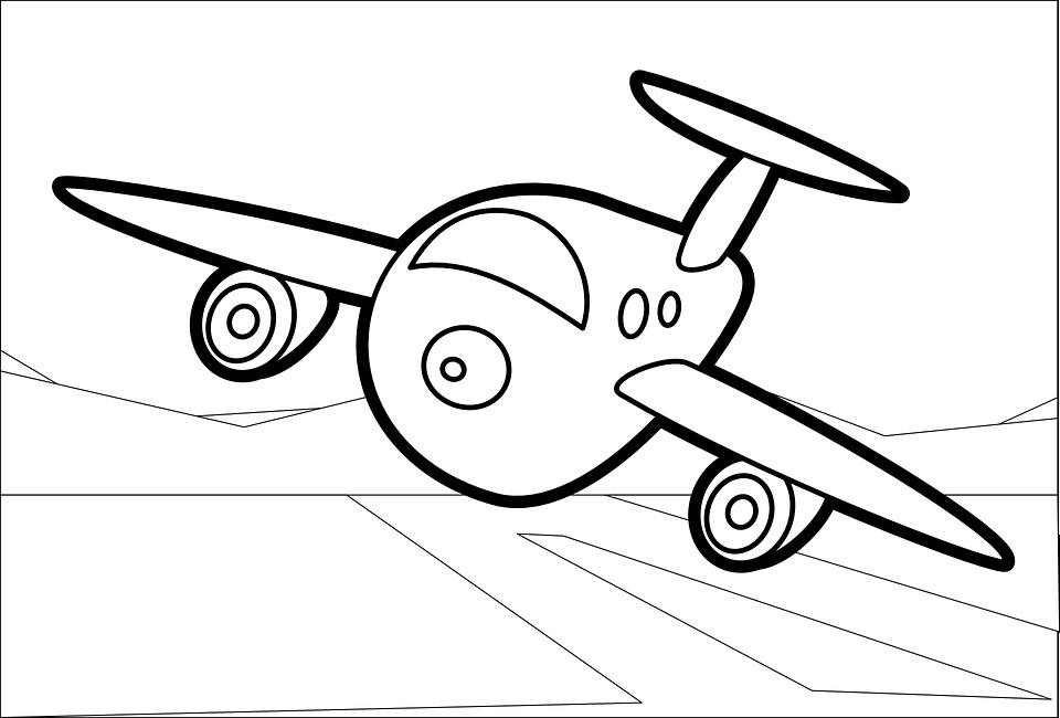 Tranh tập tô màu chủ đề máy bay