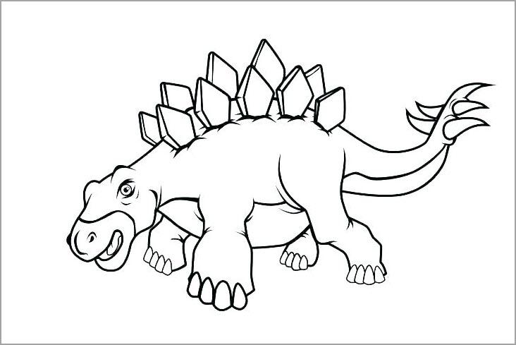 Tranh tập tô màu con khủng long