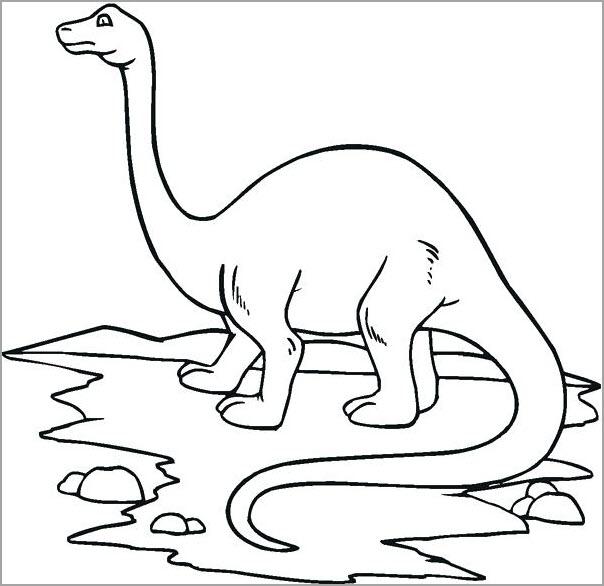 Tranh tập tô màu khủng long cao lớn