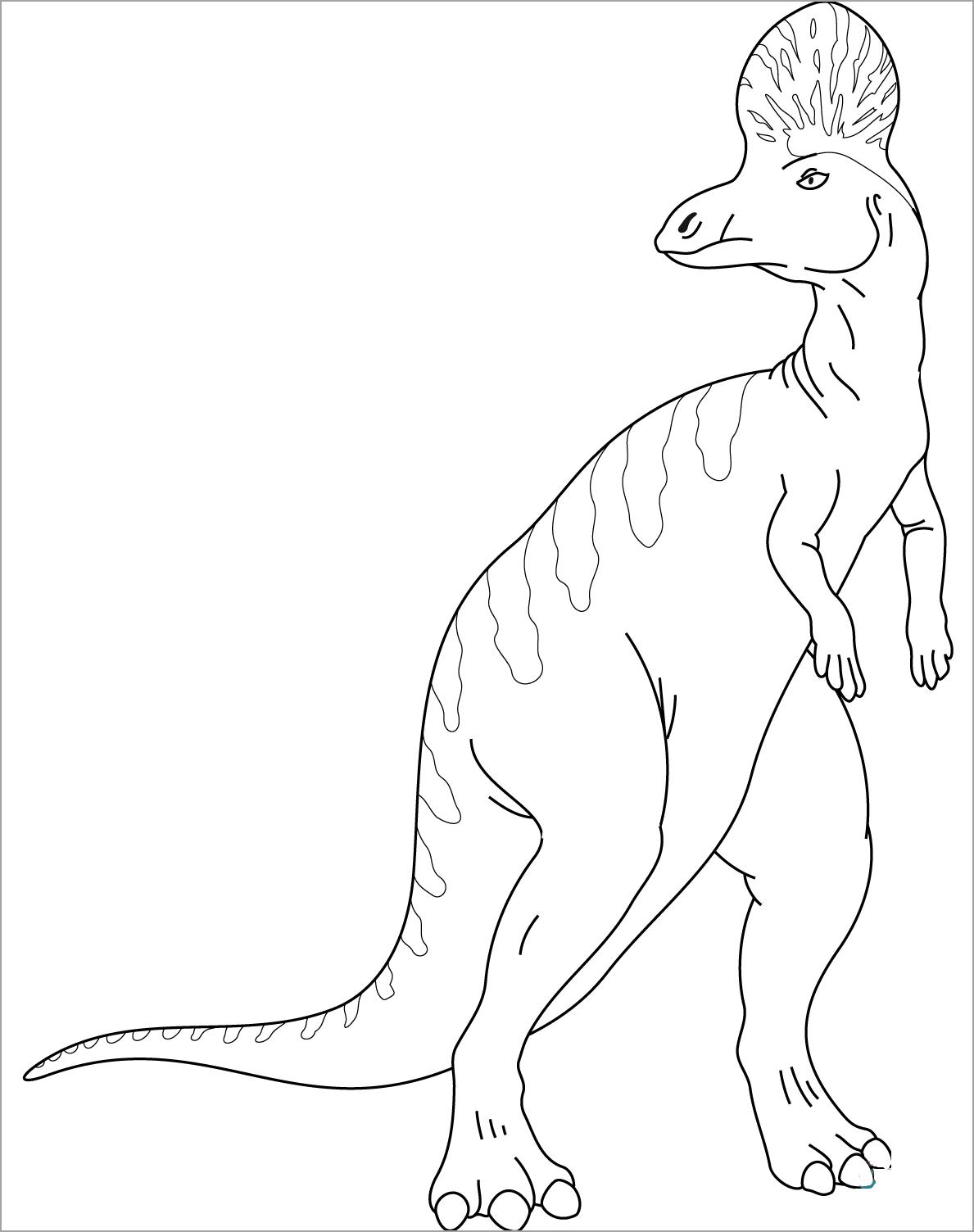 Tranh tập tô màu khủng long cho bé