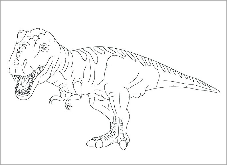 Tranh tập tô màu khủng long đẹp nhất