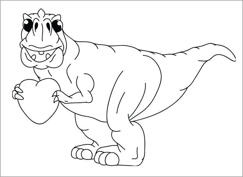 Tranh tập tô màu khủng long đẹp