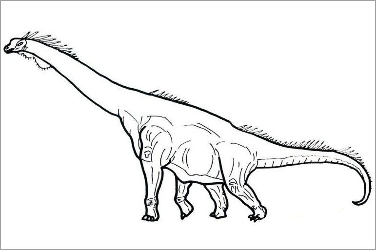 Tranh tập tô màu khủng long