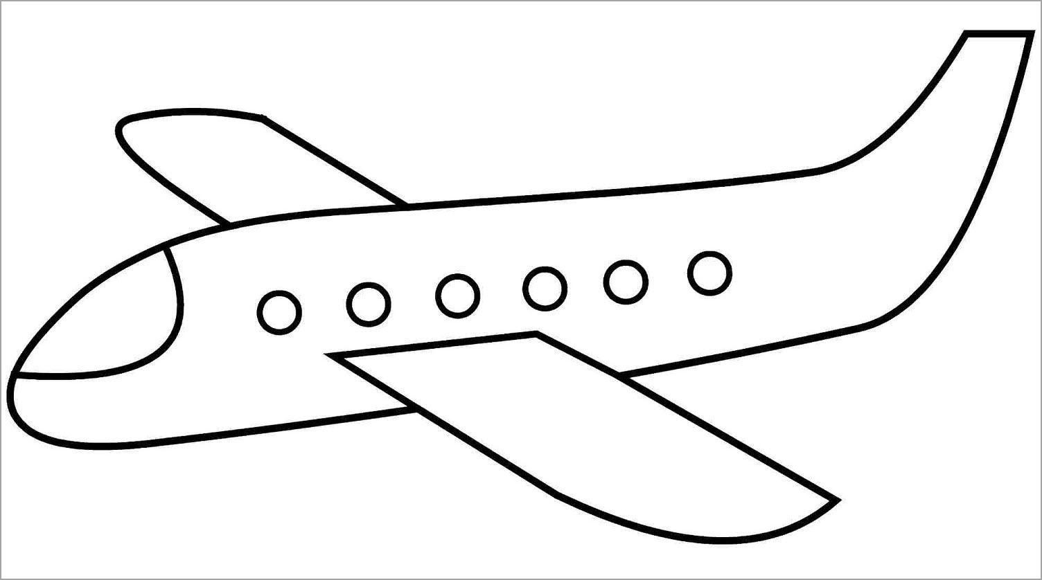 Tranh tập tô màu máy bay