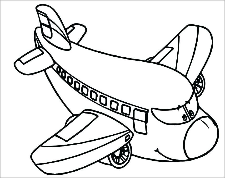 Tranh tập tô máy bay cho bé