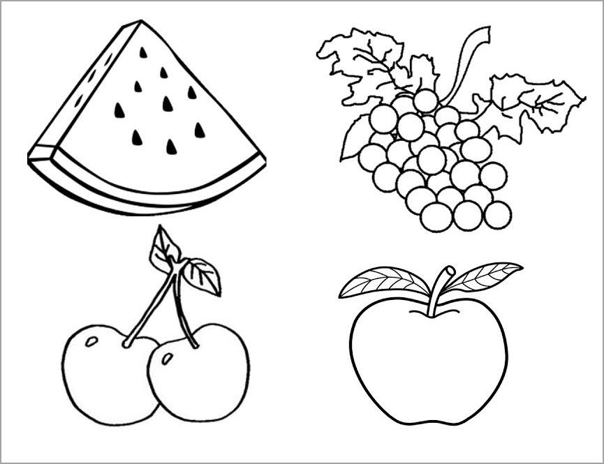 Tranh tập tô trái cây