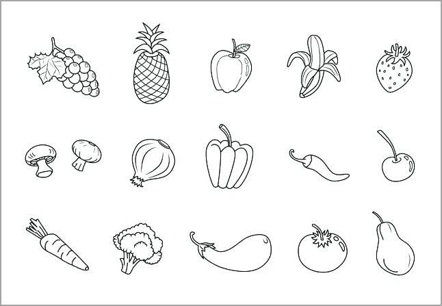 Tranh tô màu các loại hoa quả cho bé