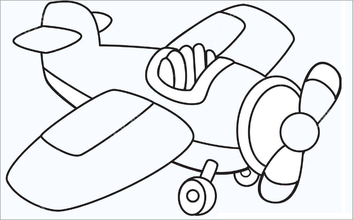Tranh tô màu cho bé chủ đề máy bay