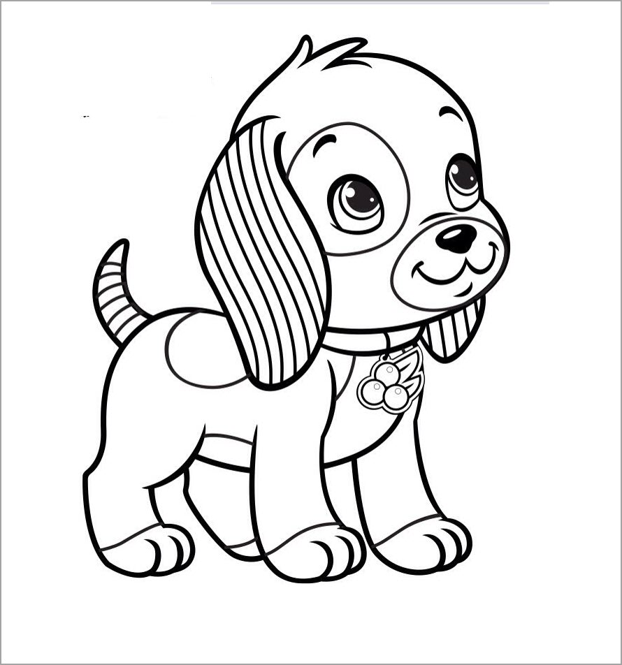 Tranh tô màu chú chó đẹp