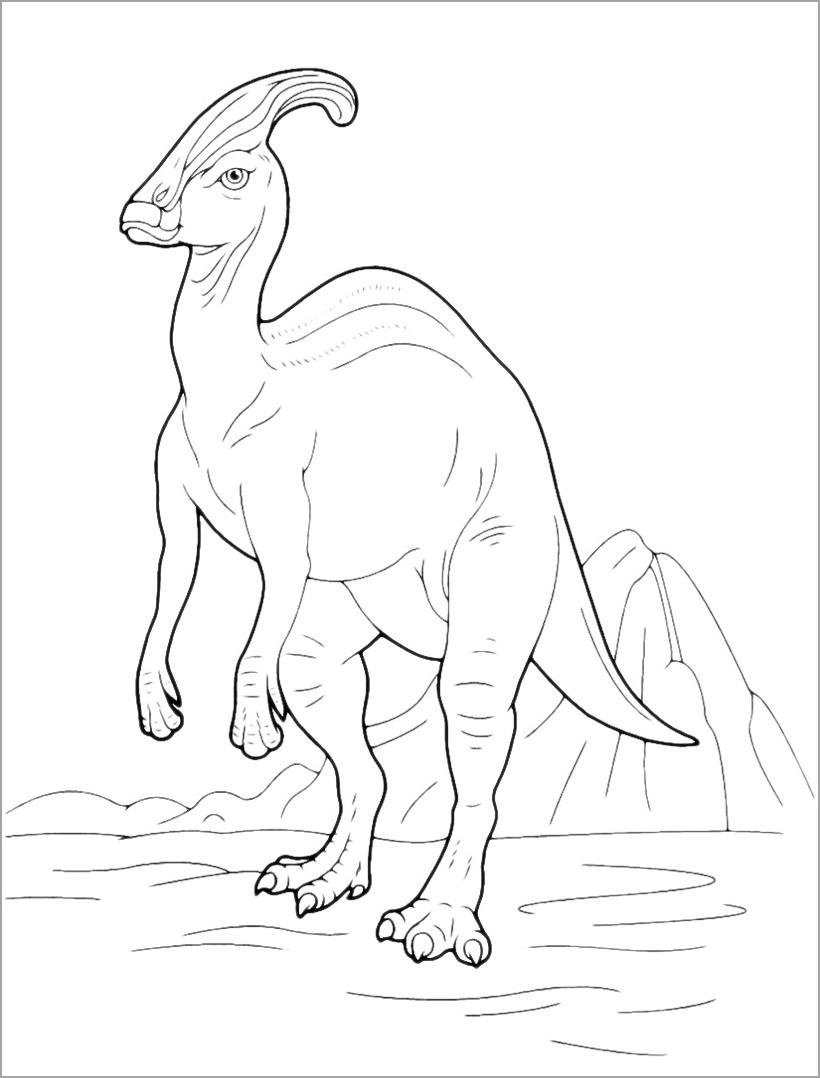 Tranh tô màu chủ đề khủng long cho bé