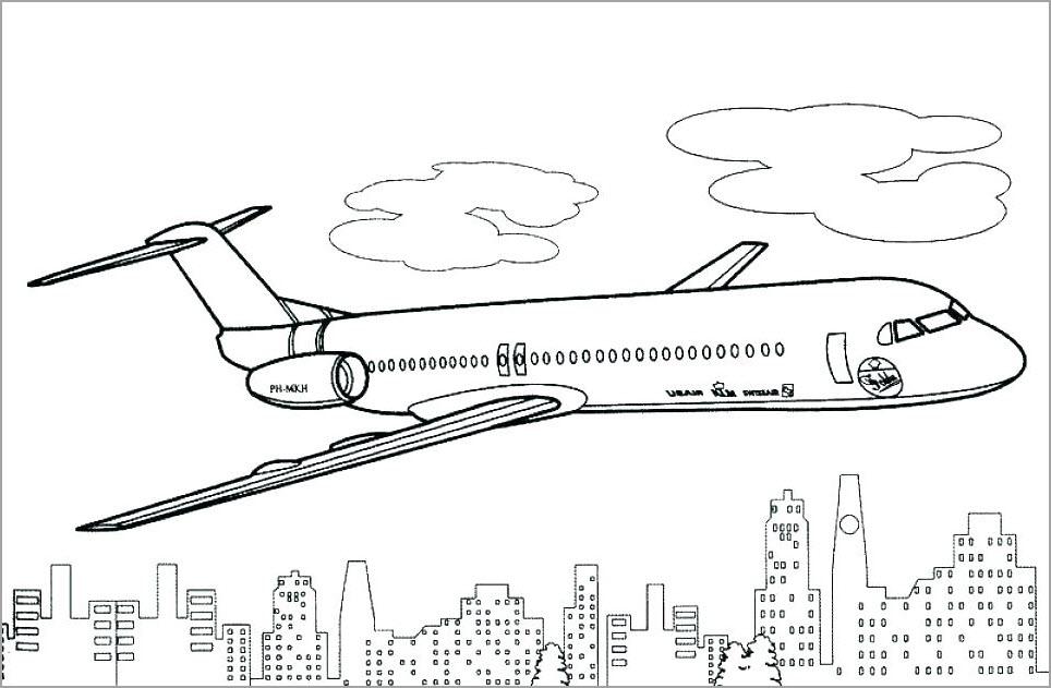 Tranh tô màu chủ đề máy bay
