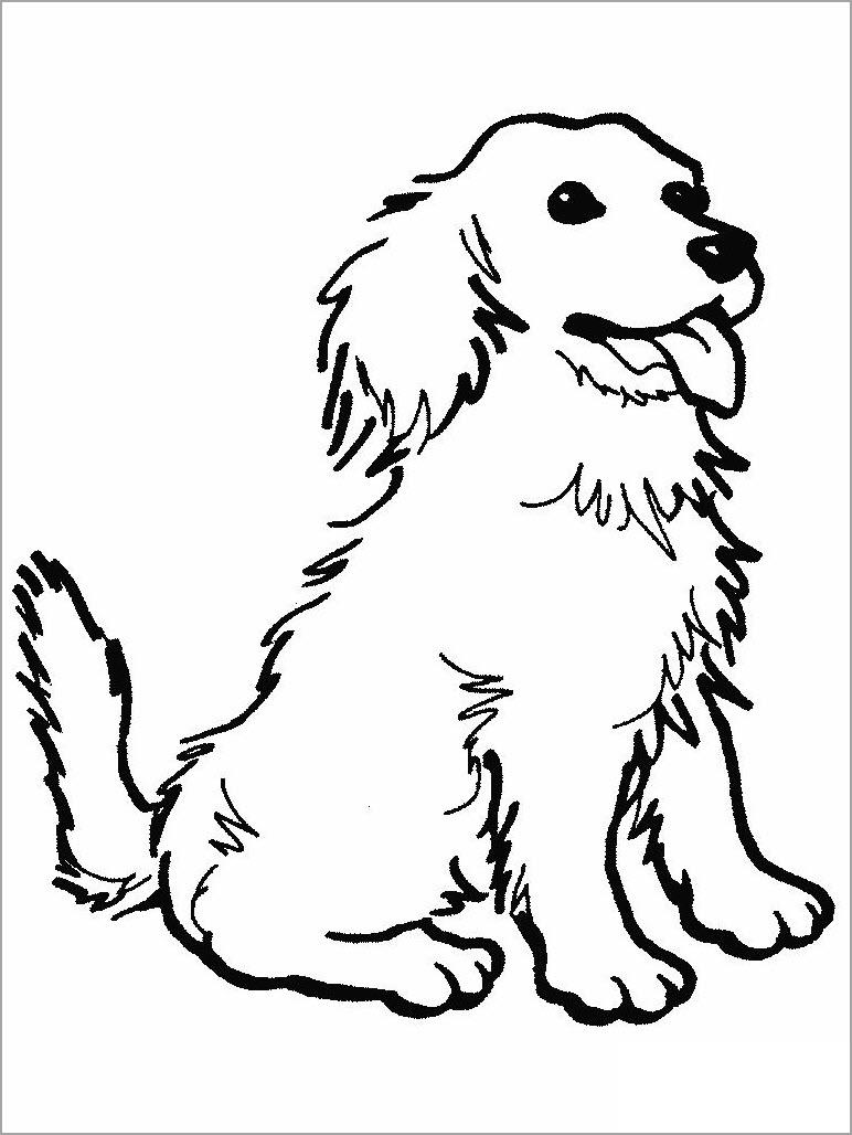 Tranh tô màu con chó đáng yêu