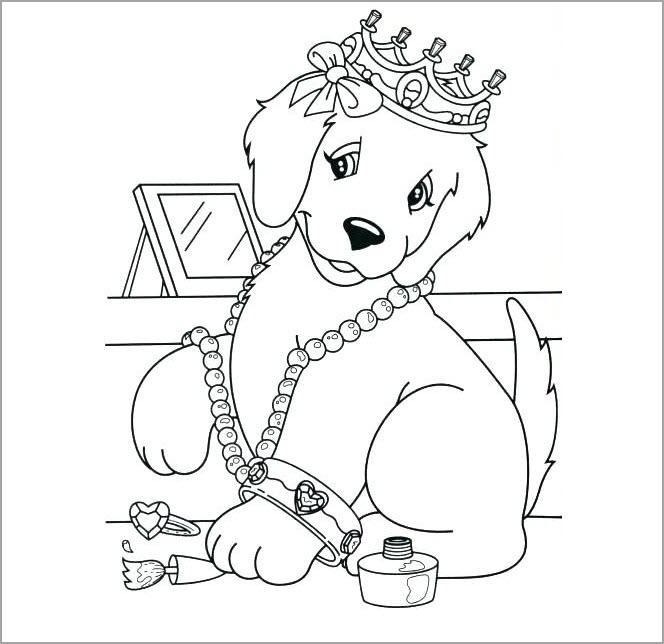 Tranh tô màu con chó puppy