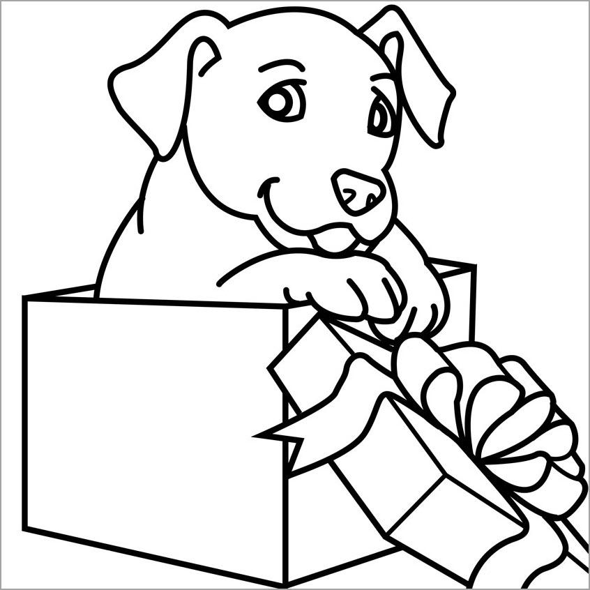 Tranh tô màu hình con chó đẹp