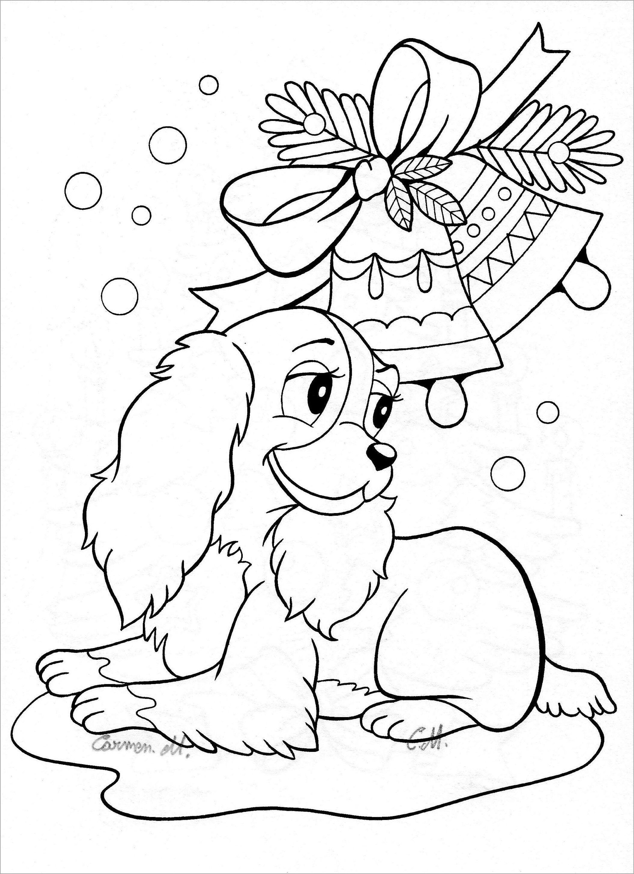 Tranh tô màu hình con chó