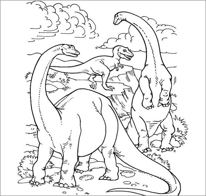 Tranh tô màu hình khủng long cho bé