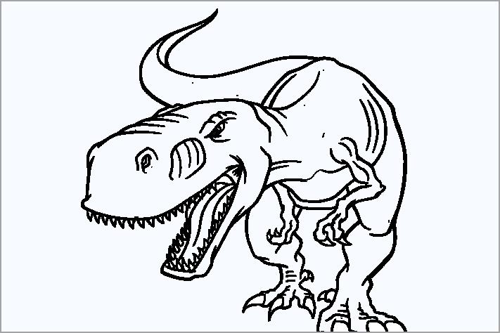 Tranh tô màu hình khủng long