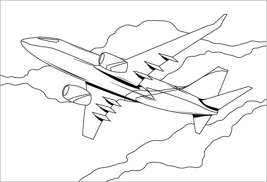 Tranh tô màu hình máy bay