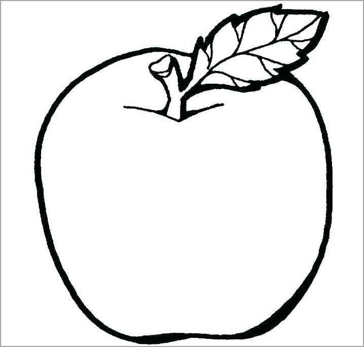 Tranh tô màu hình quả táo