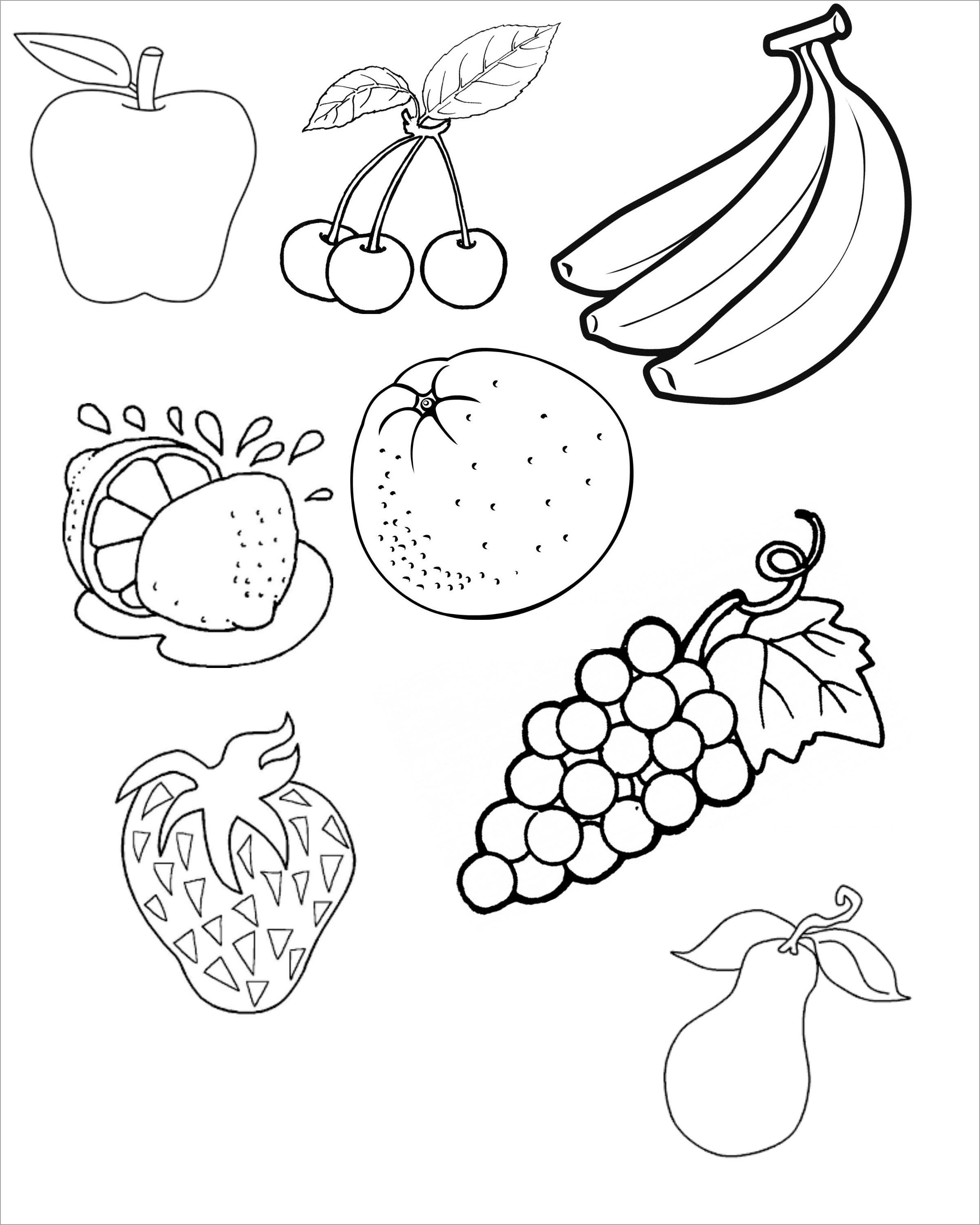 Tranh tô màu hoa quả