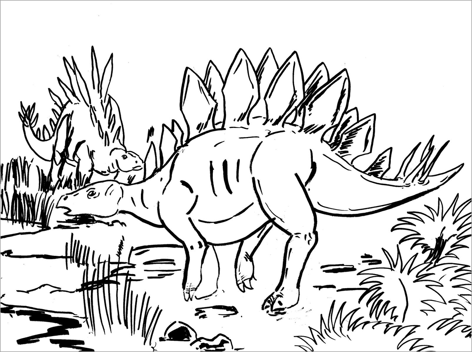 Tranh tô màu khủng long cho bé 5 tuổi