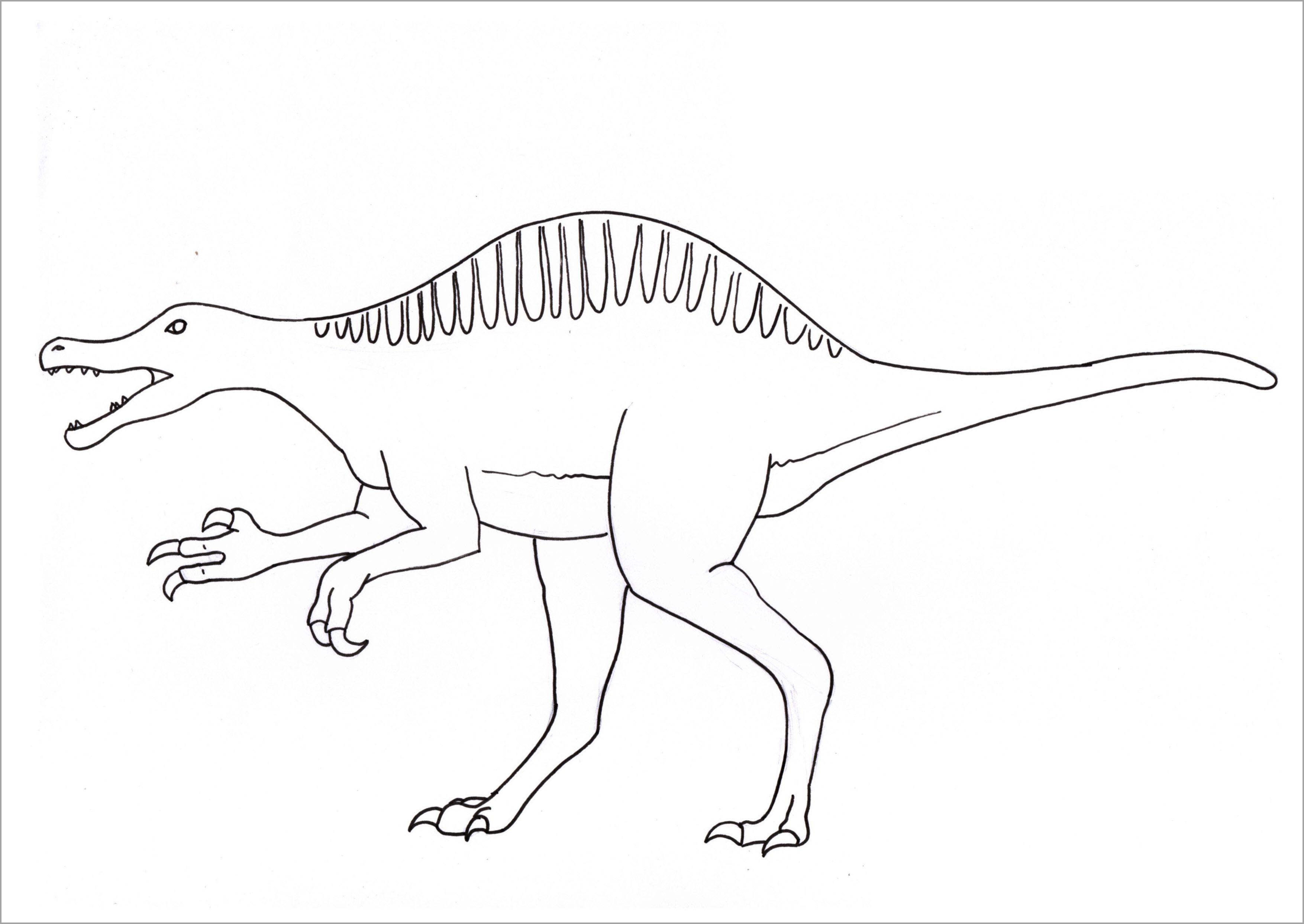 Tranh tô màu khủng long cho bé đẹp nhất