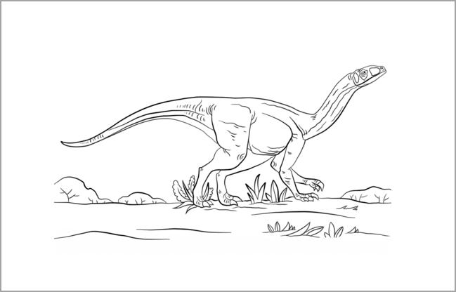 Tranh tô màu khủng long đẹp