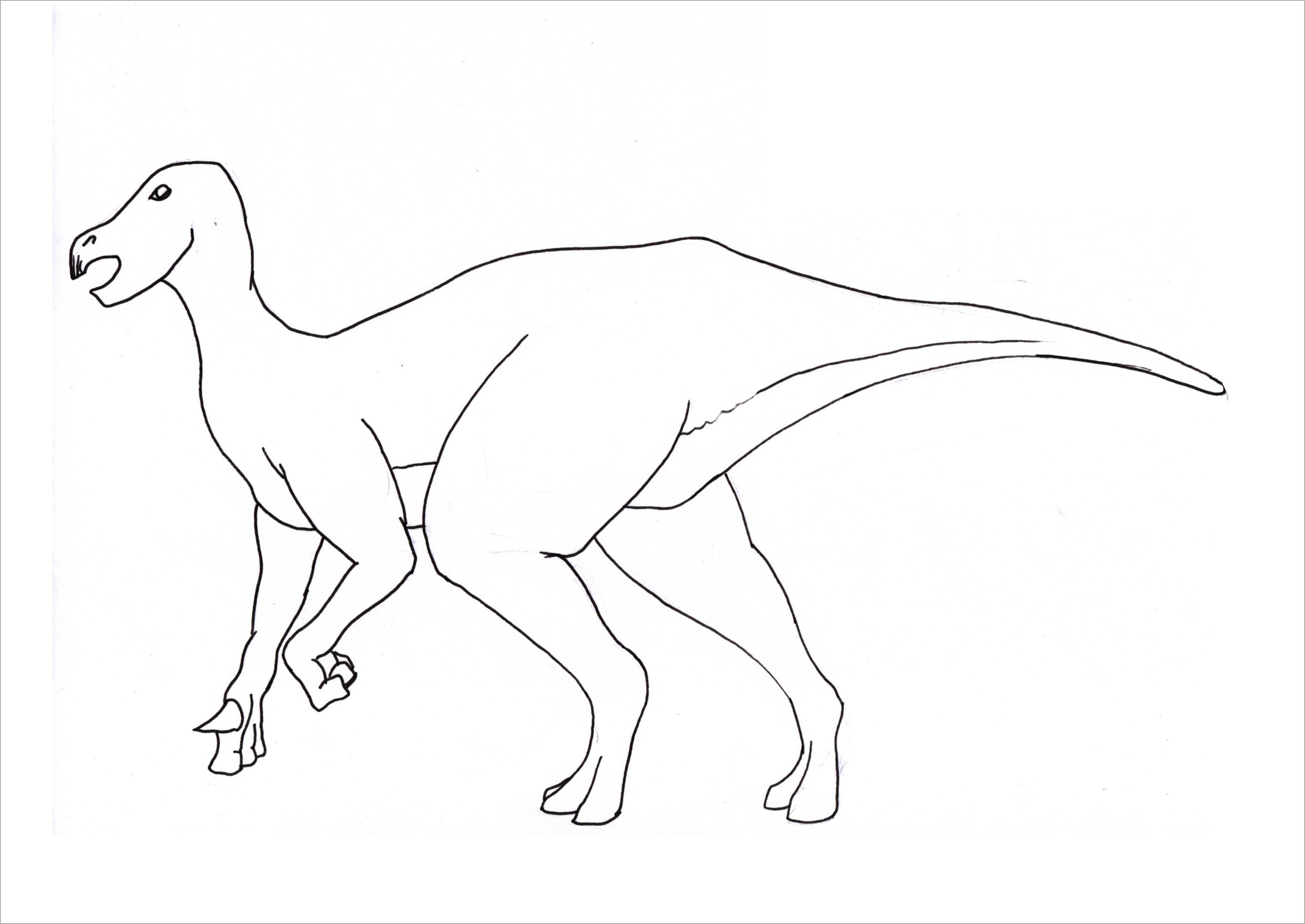 Tranh tô màu khủng long đơn giản