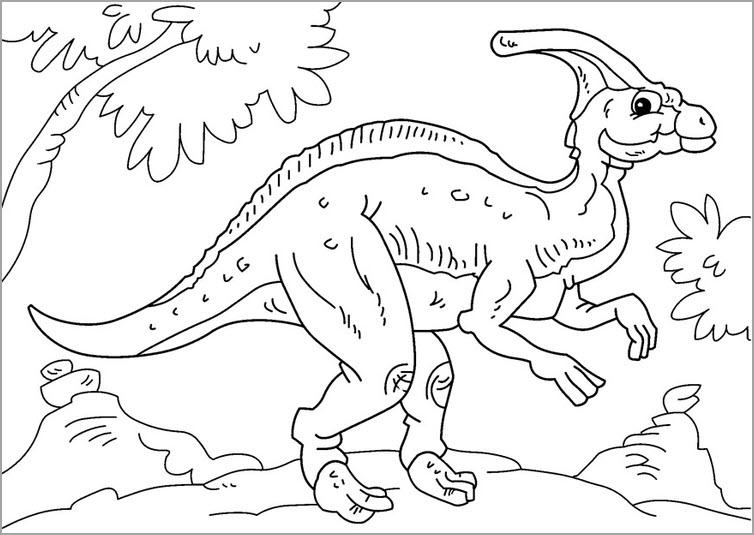 Tranh tô màu khủng long mới nhất