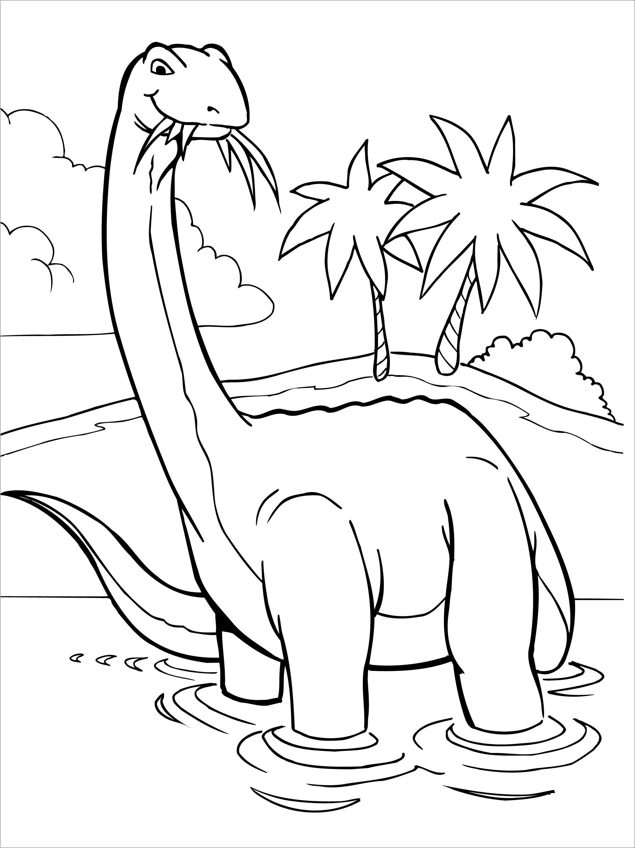 Tranh tô màu khủng long tuyệt đẹp