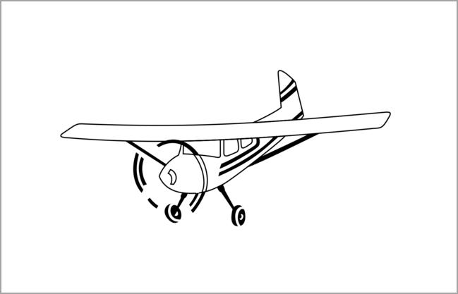 Tranh tô màu máy bay đẹp nhất cho bé