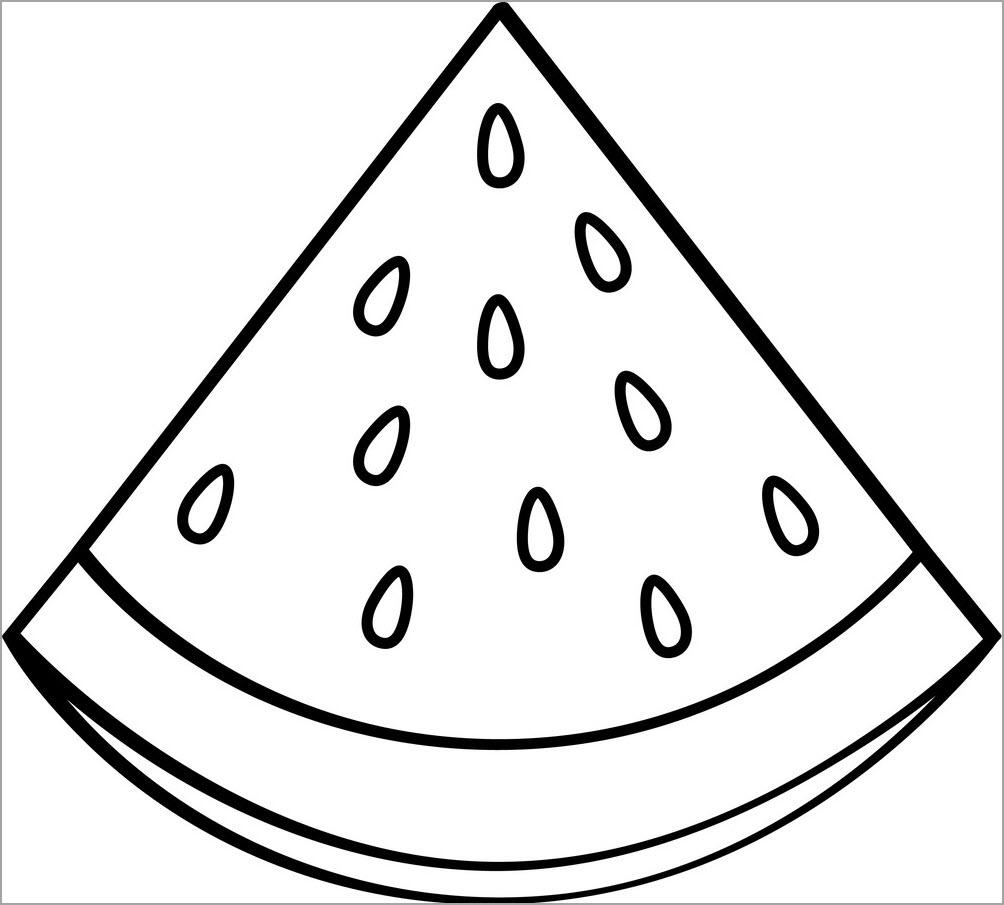 Tranh tô màu miếng dưa hấu