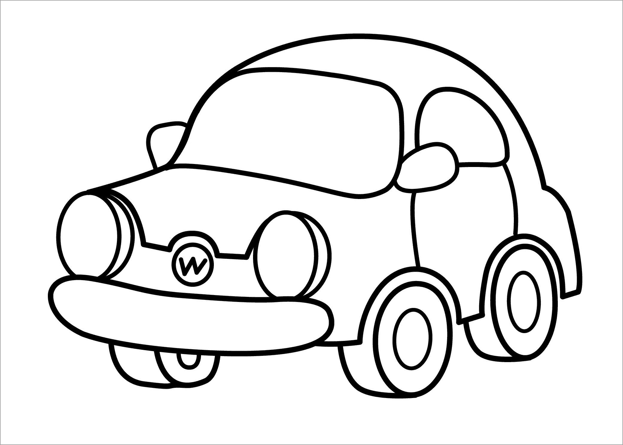 Tranh tô màu ô tô cho bé