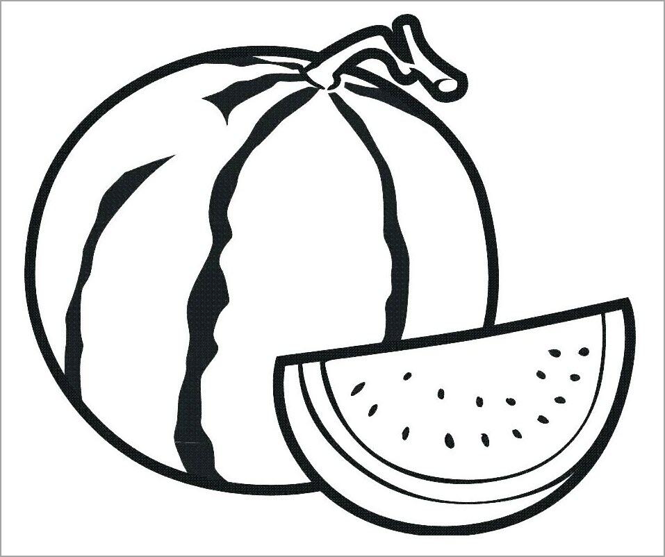 Tranh tô màu quả dưa hấu (2)