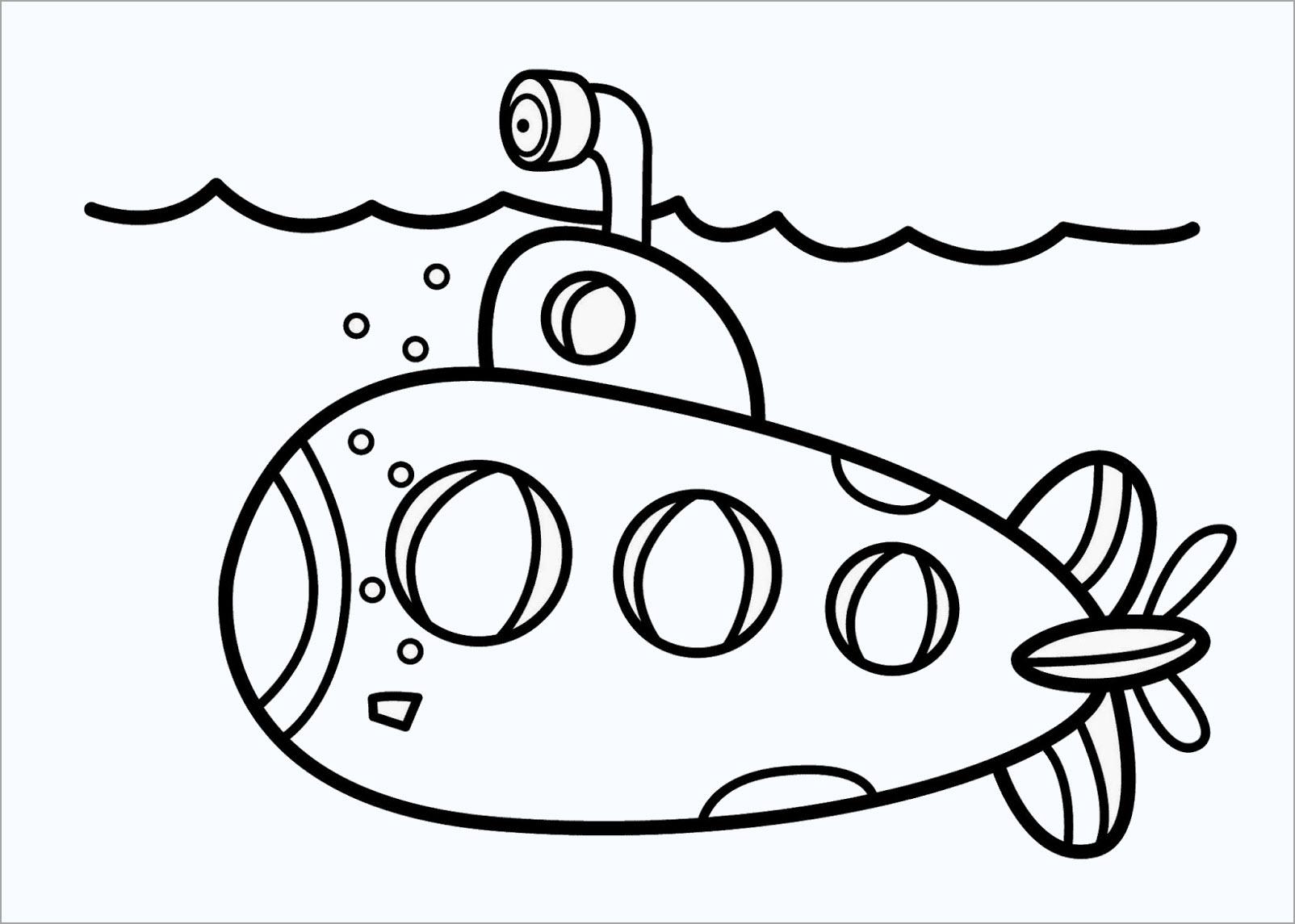 Tranh tô màu tàu ngầm