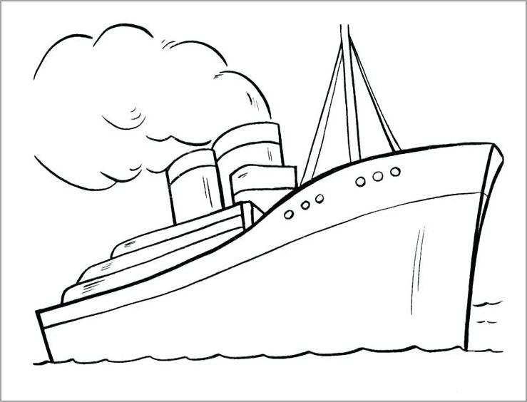 Tranh tô màu tàu thủy