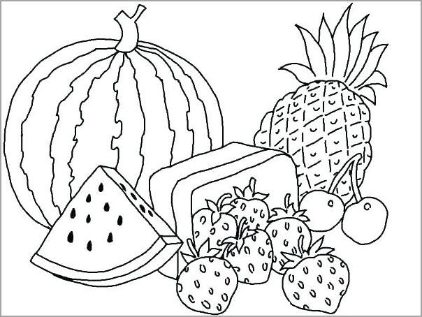 Tranh tô màu trái cây đẹp