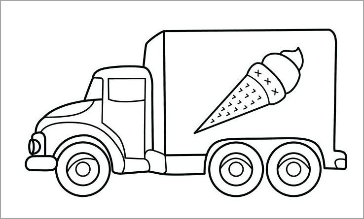 Tranh tô màu về phương tiện giao thông đường bộ