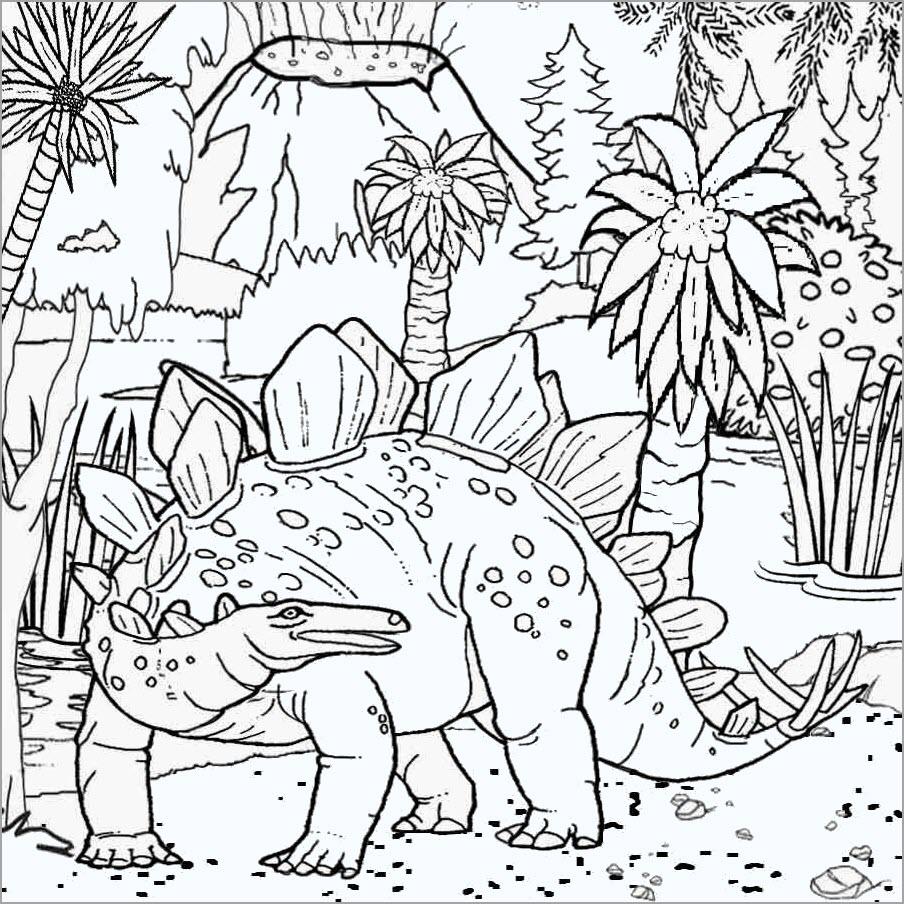 Tranh tô màu vương quốc khủng long