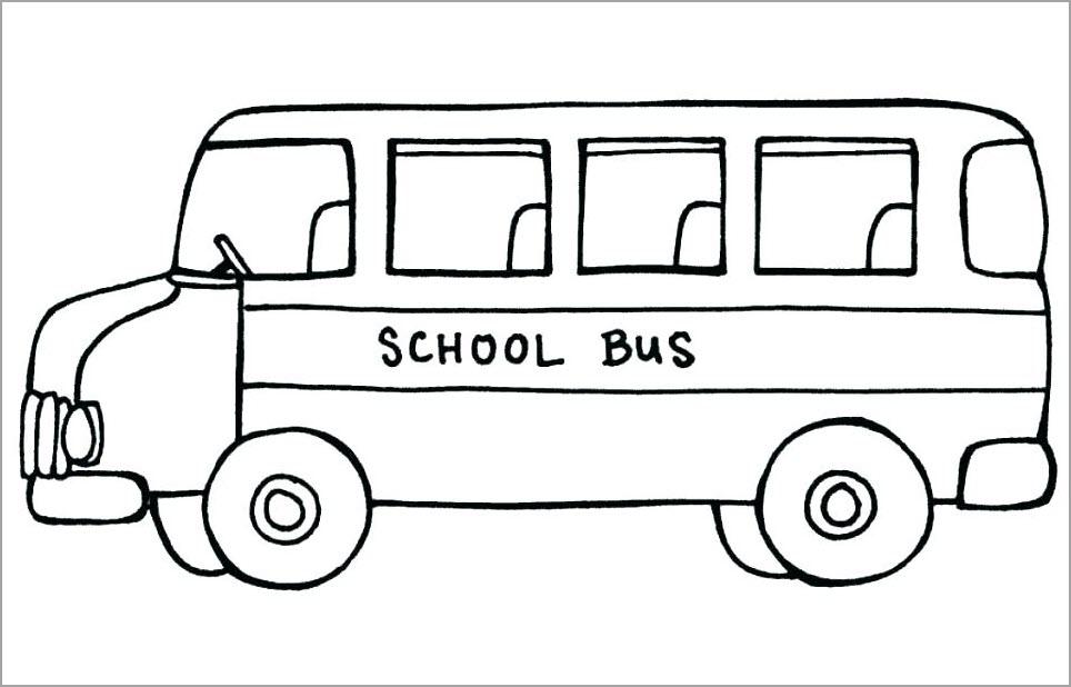 Tranh tô màu xe buýt
